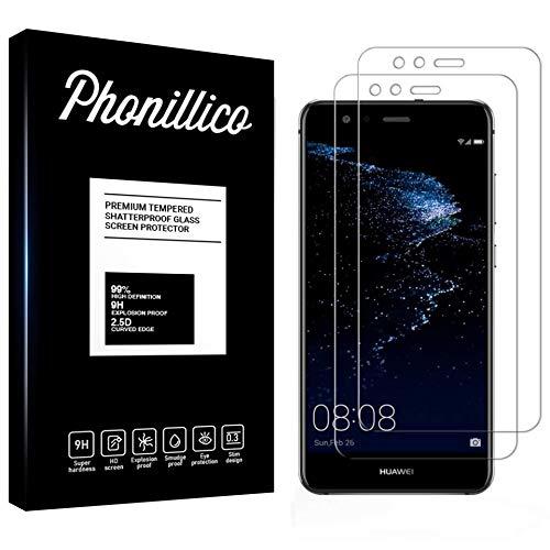 PHONILLICO [Pack de 2] Verre Trempe Huawei P10 Lite - Film Protection Ecran Verre Trempe [Lot de 2] Vitre Ecran Protecteur Anti Rayure sans Bulle d'Air Dureté 9H Ultra Mince Transparent