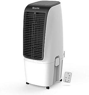 bianco Esolom refrigeratore evaporativo per casa e ufficio 3 velocit/à mini condizionatore personale Condizionatore di raffreddamento ad acqua con 7 luci LED