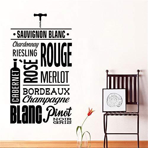 Francés Sauvignon Blanc Citas Bodega Vino tinto Uva Alcohol Bebida Pub Bar Etiqueta de la pared Calcomanía de vinilo Dormitorio Sala de estar Comedor Restaurante Oficina Decoración para el hogar
