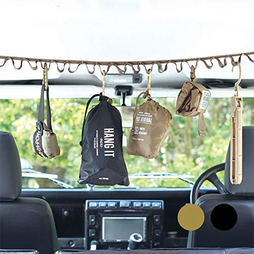 POST GENERAL ポストジェネラル ハングイット PACK 2 (2本セット)【コンパクト 軽量 簡単 持ち運び便利 たくさん収納 旅行 ソロキャンプ用品 アウトドア】ウルフブラウン
