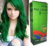 Permanente Haarfarbe Tönung Coloration Haar Cosplay Gothic Punk Grün 0/22 OHNE Parabene, Ammoniak,...