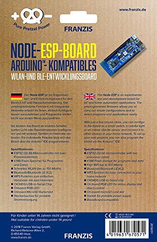 FRANZIS NodeESP-Board | Smart Home Programmierung | Arduino kompatibel | Ab 14 Jahren