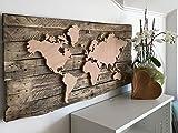WINTINI Premium DIY-Wandbild - LED-Weltkarte aus Holz - Wanddekoration beleuchtet - hochwertiger Bausatz - ideales Geschenk für Reiseliebende - handgefertigte Dekoration - Made in Austria