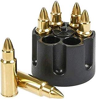 Zwin Extra große Whiskeystein-Kugeln für Getränke, 6 Stück Whisky-Eiswürfel, Kugeln, Kugeln, Steine mit Sockel, wiederverwendbar, Edelstahl, in Kugelform, Form von Eiswürfeln für Geschenk Gold