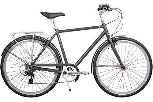 Gama Bikes Metropole Men 28-Inch Hound 8 Speed Shimano Hybrid Urban...