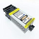 Módulo láser azul enfocable CNC 7W 450nm 40mm, piezas de máquina de grabado láser DIY, 12V con PWM/TTL puede cortar madera de balsa de 3 mm se puede grabar en acero inoxidable