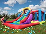 BeBop Aire de Jeux Gonflable et Toboggan Aquatique Total Wipeout pour Les Enfants