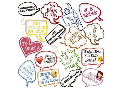 Atrezzo Photocall Frases Graciosas 100x100 cm | Atrezzos Decorativos para Photocalls |...