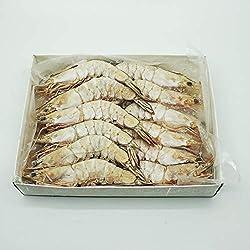 Catch Seafood Live frozen Medium Prawns Head On Shell On, 1kg - Frozen