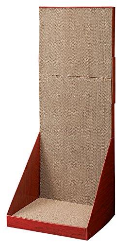 ミュー (mju:) 爪とぎ ガリガリウォール スクラッチャー プラス ブラウン H90cm
