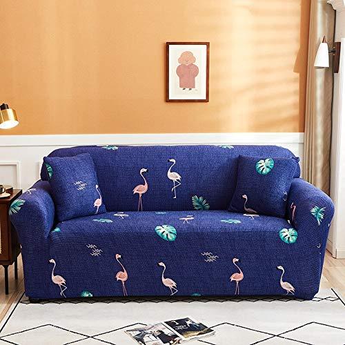 WXQY Wohnzimmer Stretch Sofabezug L-förmige Ecksofa Schutzhülle All-Inclusive-Haustierschutz Sofabezug A12 4-Sitzer