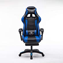 Mason Taylor Gaming Office Chair Home Computer Chairs Racing PVC Leather Seat Blue