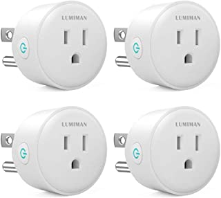 LUMIMAN MINI Smart Plug Outlet 4 Pack only support 2.4 GHz WiFi network, Compatible with Alexa IFTTT and Google Home Assistant, Work with Apple Siri Shortcuts, No Hub Required,White FCC ETL Certified
