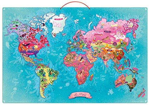 Vilac - 2723 - Carte du Monde Poétique Magnétique