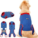 FOREYY Dog Professional Recovery Suit Abdominal Wound Protector Puppy Medical Surgical Clothes Post-Operative Vest Pet After Surgery Wear E-Collar & Cone Alternative (M)