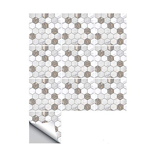 JASIN vloersticker, creatieve woondecoratie bruin wit marmer textuur tegel muursticker voor keuken badkamer woonkamer decoratie