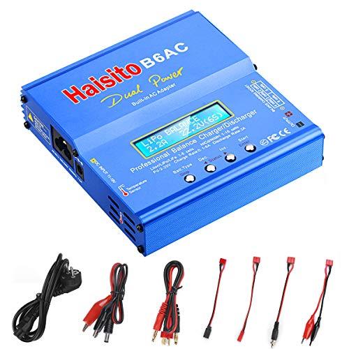 Haisito Lipo Ladegerät, Balance Ladegerät Entlader mit Dual AC / DC Netzteil für LiPo / Li-Ion / Life Akku (1-6S), NiMH / NiCd (1-15S), PB (2-24V) (RC Batterie Ladegerät )