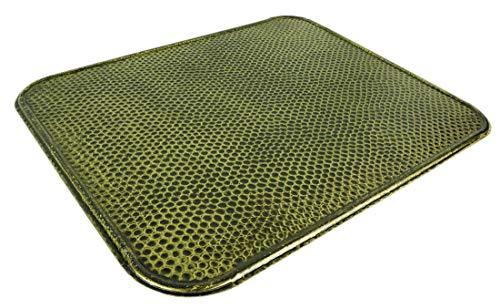 Novatool 2x Ofenblech I 500 x 600 I altmessing gehämmert I Hitzeschutzblech Ofenplatte Funkenschutz Kaminplatte Kaminbodenplatte