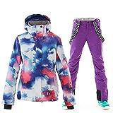 Women's Ski Snowboard Jackets Pants Set Windproof Waterproof Snow Jacket Ski Suits Rain Jacket