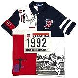 POLO RALPHLAUREN THE STADIUM 1992 P-WING POLO ポロ ラルフローレン ポロシャツ 復刻モデル ホワイト×ネイビー size L