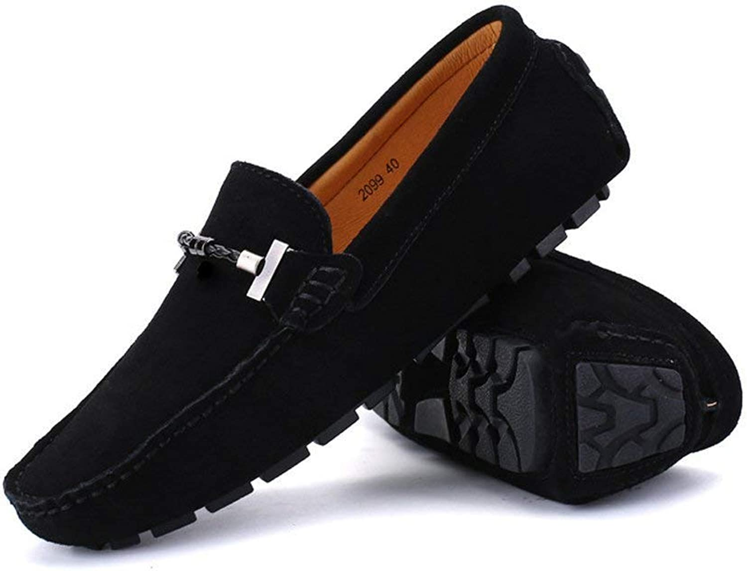 Men's Moccasins shoes, Men Driving Low-Top Loafers Handmade Seam Suede Genuine Leather Penny Boot Moccasins up to size 47 EU (color  Black, Size  43 EU) ( color   As shown , Size   One size )