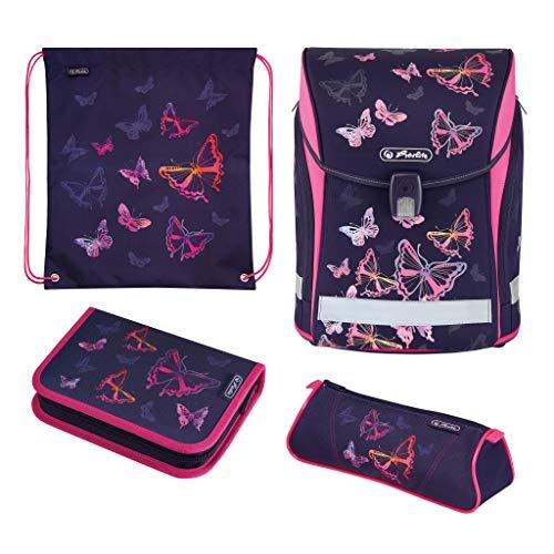 Herlitz 50025657 Schulranzen Midi Plus Rainbow Butterfly , 1 Stück