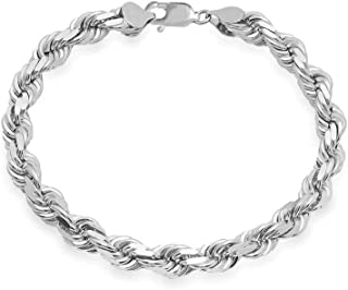 Best mens silver rope necklace Reviews