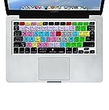 XSKN Adobe After Effects Shortcuts Cubierta de teclado de silicona en inglés Compatible Macbook Pro, Macbook Air e iMac, 13, 15 y 17 pulgadas (2015 y anteriores), con / sin pantalla Retina Skin Ultrathin US / EU