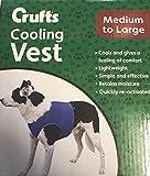 Crufts Chaleco de refrigeración para Mascotas en Caja de Color, Mediano/Grande, Azul