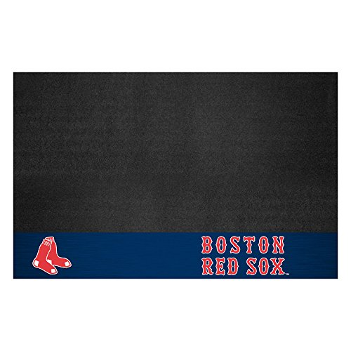 Fanmats 12147 MLB Boston Red Sox Vinyl Grill Mat