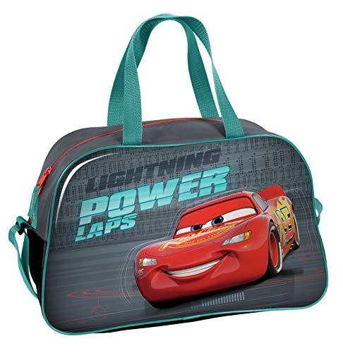 Ragusa-Trade Disney Cars Lightning McQueen - Sporttasche Reisetasche (DCU), 40 x 25 x 13 cm, grau/blau