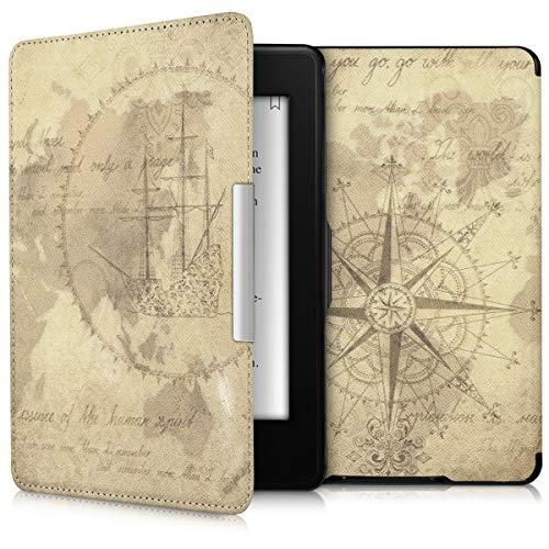 kwmobile Funda Compatible con Amazon Kindle Paperwhite - Carcasa para e-Reader de Piel sintética - marrón/marrón Claro