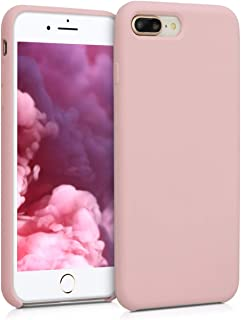 kwmobile TPU Silicone Case for Apple iPhone 7 Plus / 8 Plus - Soft Flexible Rubber Protective Cover - Peach Skin