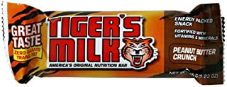 Tiger's Milk Peanut Butter Crunch Energy Bar with Protein - 1.23 oz bars, 24 count