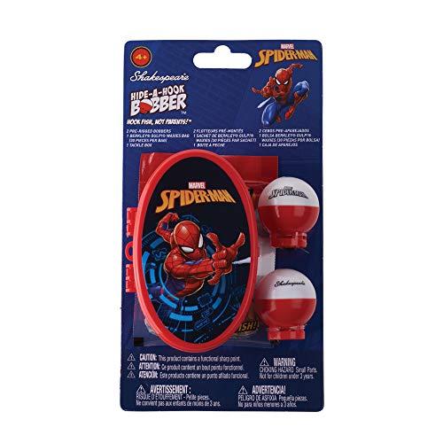 Shakespeare Marvel Spiderman Children's Hide-A-Hook Fishing Kit, Red, 2'6'