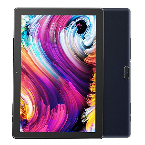 Android Tablet Pritom 10 inch Android 9.0 OS Tablet, 2GB RAM, 32GB ROM, Quad Core Processor, HD IPS Screen, 2.0 Front + 8.0 MP Rear Camera, Wi-Fi, Bluetooth, Tablet PC(Black)