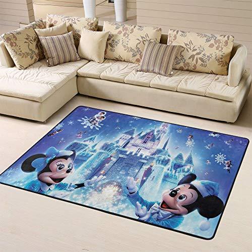 Zmacdk - Tappeto 3D con Topolino Minnie, per soggiorno, esterno, patio, patio, facile da pulire, per cameretta dei bambini, 150 x 210 cm, 3D Topolino Minnie