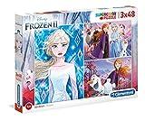 Clementoni- 3 Puzzles 48 Piezas Frozen 2, Color Multicolor. (25240.4)
