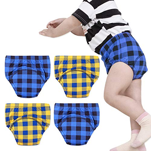 Blue U0U Baby Girls/' 4 Pack Cotton Training Pants Toddler Potty Training Underwear for Boys and Girls 12M-4T Boys, 3T