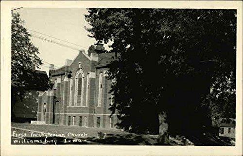 First Presbyterian Church Williamsburg, Iowa IA Original Vintage...