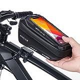 CHICLEW Fahrrad Rahmentasche Wasserdicht, Fahrrad Handytasche Lenkertasche Handyhalterung Oberrohrtasche mit TPU Touchschirm und Regenfest Abdeckung, Fahrradtasche für Smartphone unter 6,7 Zoll