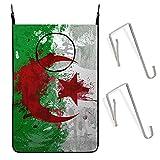 COSNUG Wäschesammler zum Aufhängen, Algerien-Flagge, Hintergr&, schmutzige Kleidung, Tasche, große Aufbewahrung, Tür, Schrankkorb, Organizer für Zuhause, College, Badezimmer, Schlafsaal