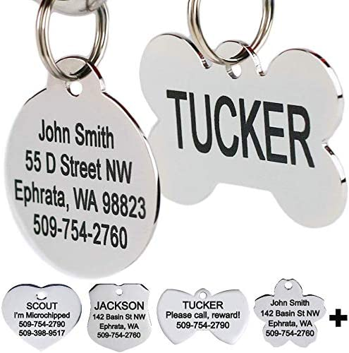 GoTags Stainless Steel Pet ID Tags Personalized Dog Tags and Cat Tags up to 8 Lines of Custom product image