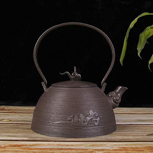 New ZYL-YL Tea Sets Cast Iron Iron Vintage ese Iron Pot Cloud Roll Cloud Shu Pure Handmade Iron Unco...