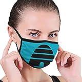 Ioejhkjk NC-AA - Máscara de Frase con Puntos, Lavable, Reutilizable, Resistente al Viento, cálido, poliéster, Negro, Talla única