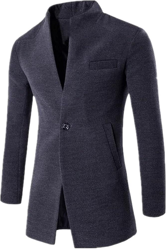 Business Wool Blends Limited time trial price Coat Men Slim Memphis Mall Windbreaker Winter Coats Long