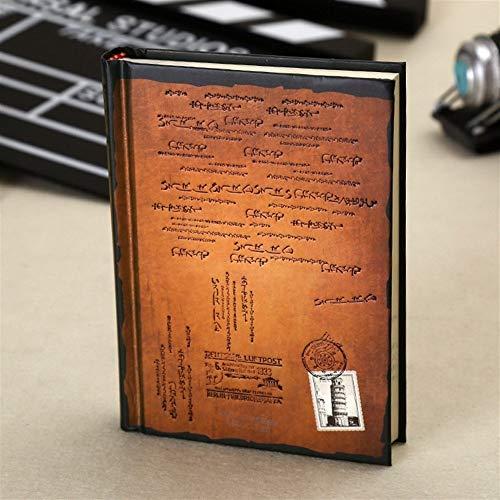 King Boutiques Nuevo Retro Cuaderno de Papel de Tapa Dura Vintage Diario Personal Diario Agenda Planificador Papelería Regalos Artículos Escolares de Oficina (Color : Coffee)