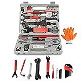 Einfeben 48 TLG Fahrrad Werkzeugkoffer, Fahrradwerkzeug Reparaturset, Multifunktionswerkzeug Set für die Reparatur von Reifen, Bremsen, Lichtern und Ketten
