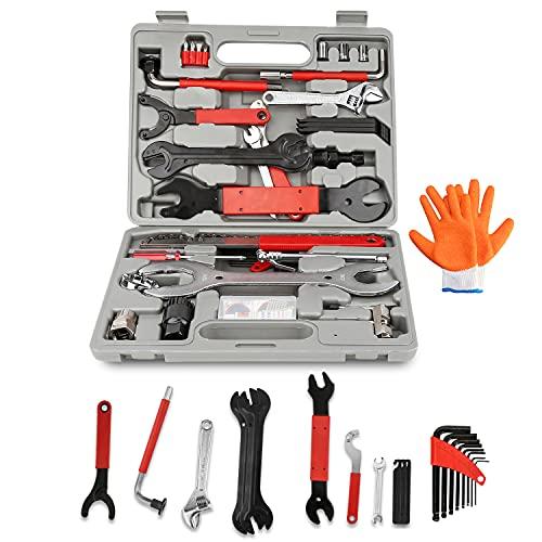 Einfeben 48 TLG Fahrrad Werkzeugkoffer, Fahrradwerkzeug Reparaturset, Multifunktionswerkzeug Set...