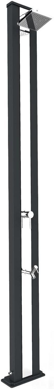 ARKEMA Duscharmatur mit Mischbatterie und Fuwaschbecken Spring S Anthrazit und Edelstahl